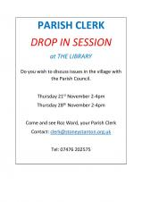 Parish Clerk Drop In session