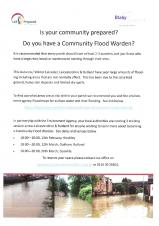Flood Warden Training