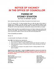 Notice of Vacancy for Councillor